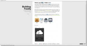 Mobile Login Bug – FIXED in 16.1   Building Feedly