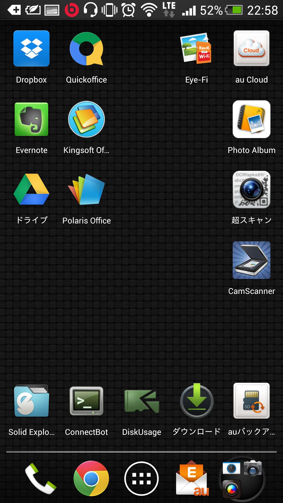 Android(HTL22)で使用しているアプリ達