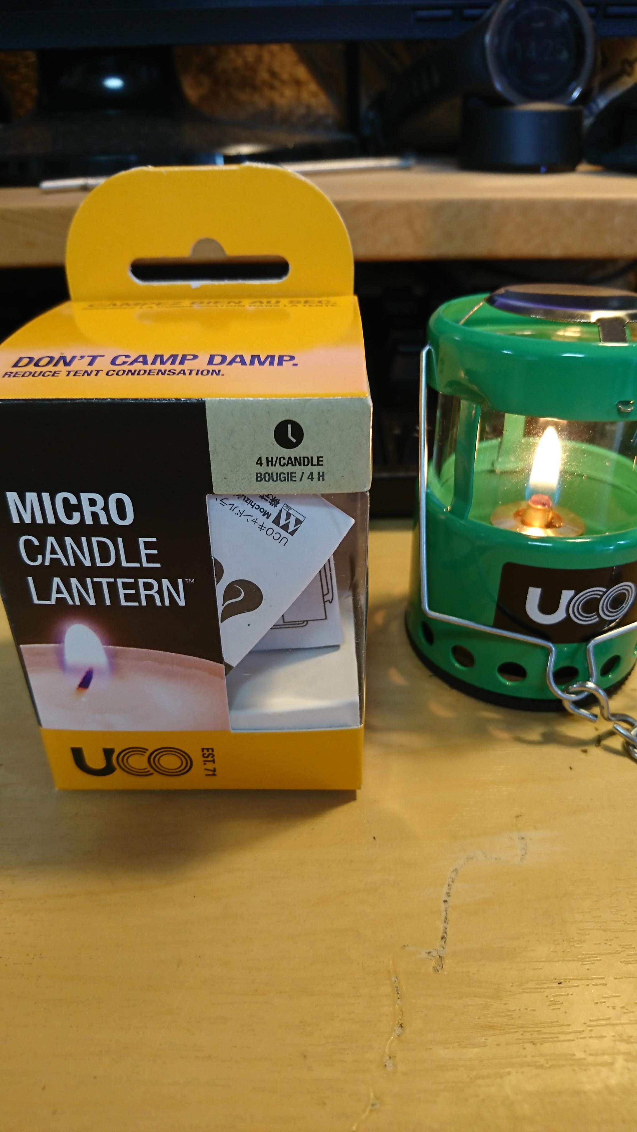 UCO(ユーコ) マイクロランタンをオイルランタン化する