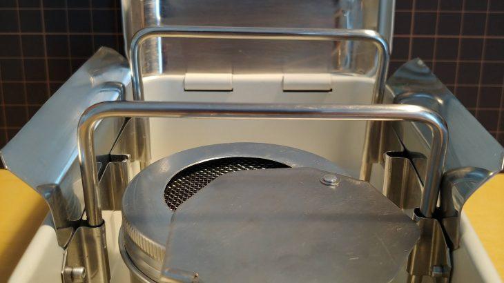 無印良品スチール工具箱ストーブ(Optimus 8R風)